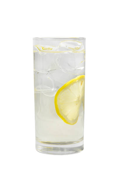 summer cocktail on isolated white background - kwaśny smak zdjęcia i obrazy z banku zdjęć