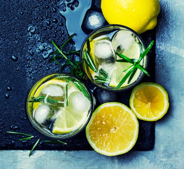 Cocktail au citron, romarin et glace d'été - Photo