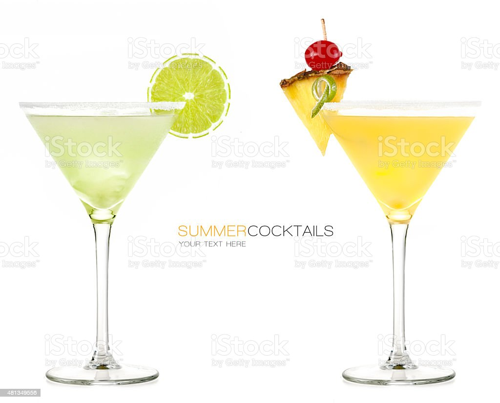 Summer Cocktails. Frozen Drink stock photo