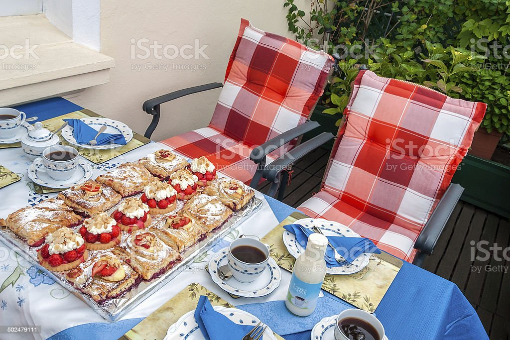Summer Coffee time stock photo