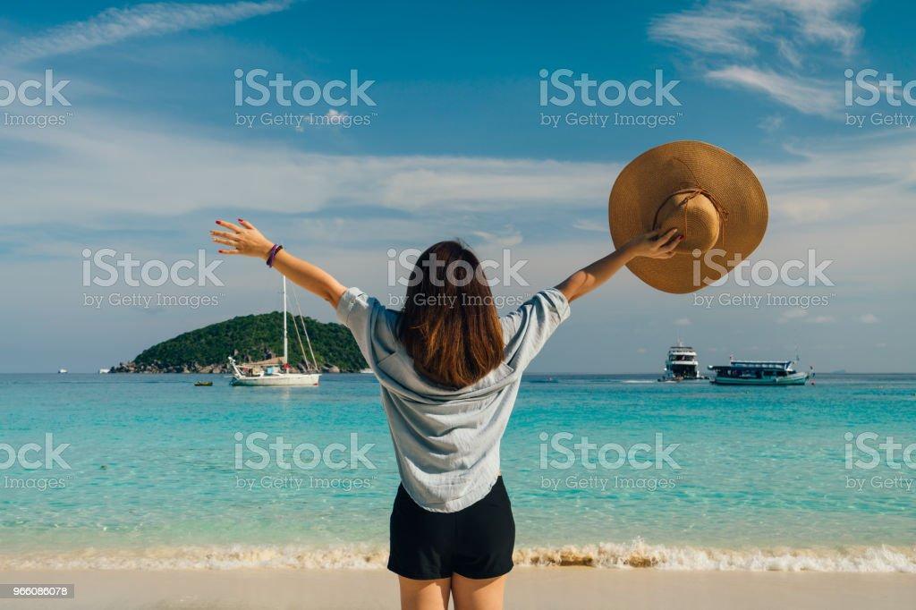 Sommaren koncept - Royaltyfri Andamansjön Bildbanksbilder