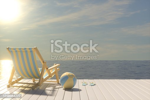 483959606 istock photo Summer Concept with Beach Chair 1246984777