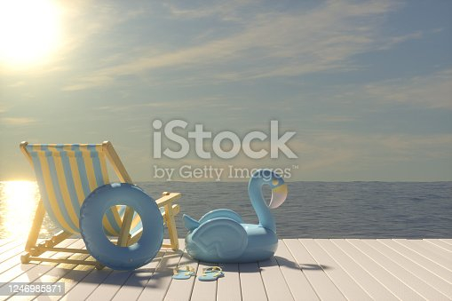 483959606 istock photo Summer Concept with Beach Chair 1246985871