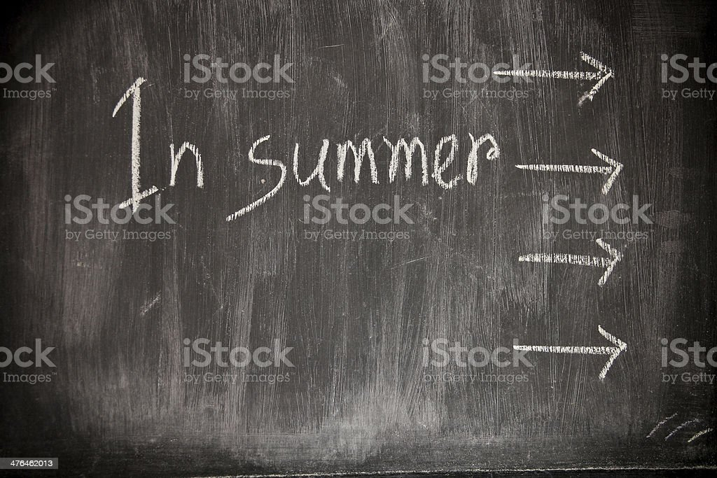Summer concept written royalty-free stock photo