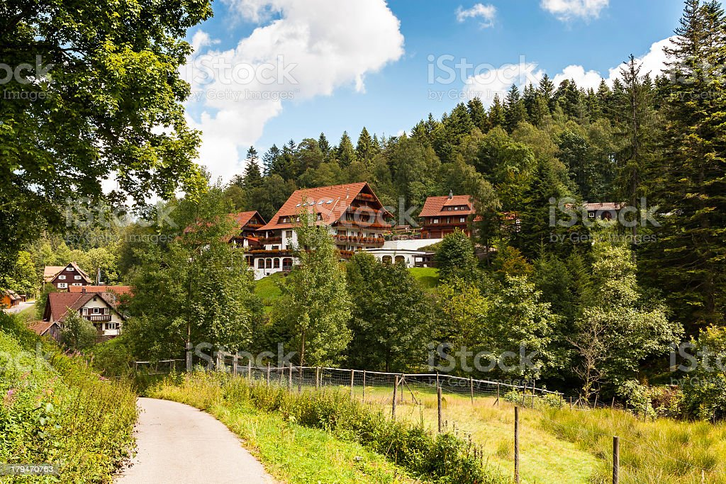Summer cottages in the Black Forest stock photo