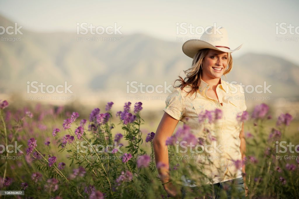 Summer Cowgirl royalty-free stock photo