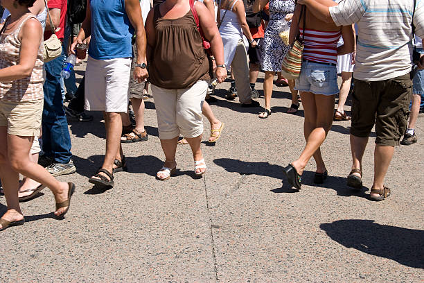Summer Crowd stock photo