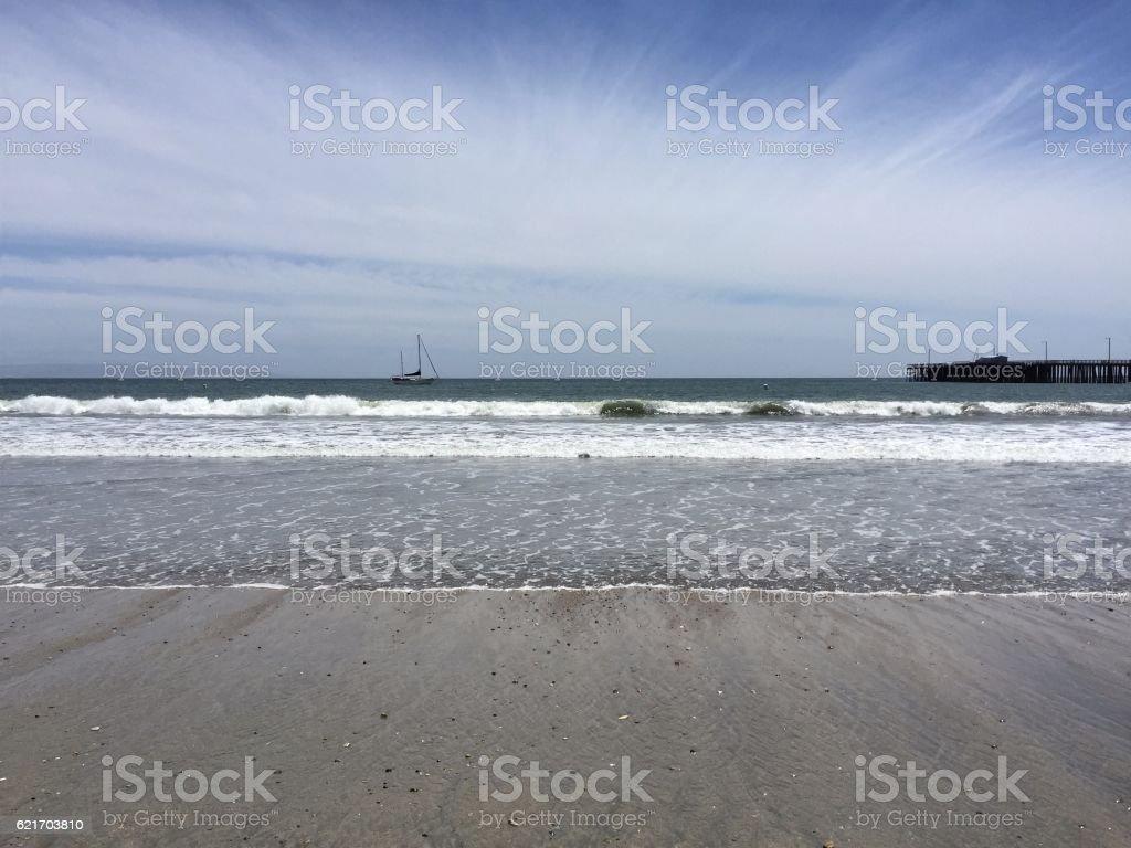 Summer day at Avila Beach stock photo