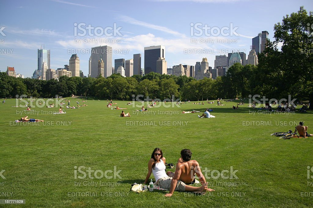 Summer day at Central Park. stock photo