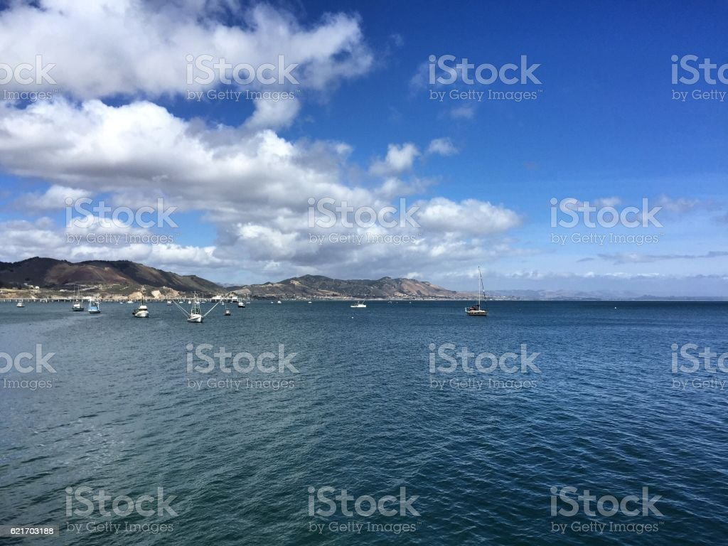 Summer Day at Pismo Beach stock photo