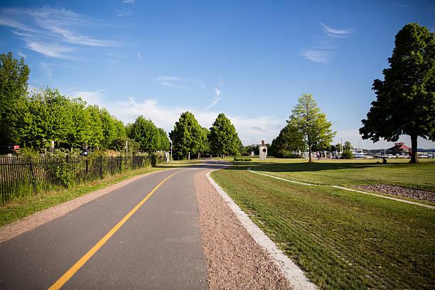 Summer Day Bike path stock photo