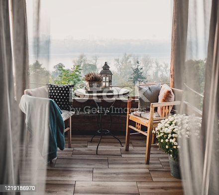 istock Summer day boho terrace 1219186970