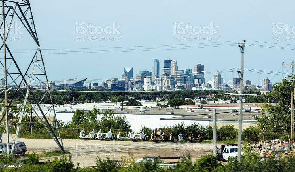 Summer day in Minneapolis stock photo