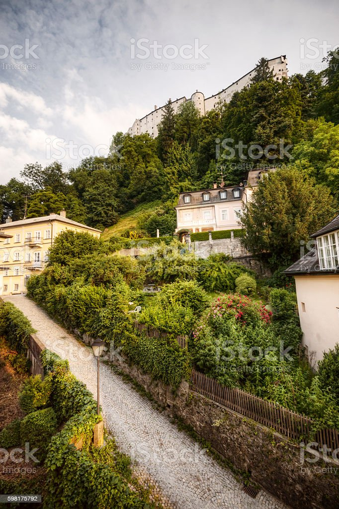 Summer Day in Salzburg's Historic Nonntal Neigborhood stock photo