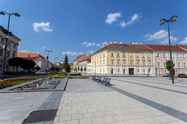 Summer day in Szombathely, Hungary stock photo