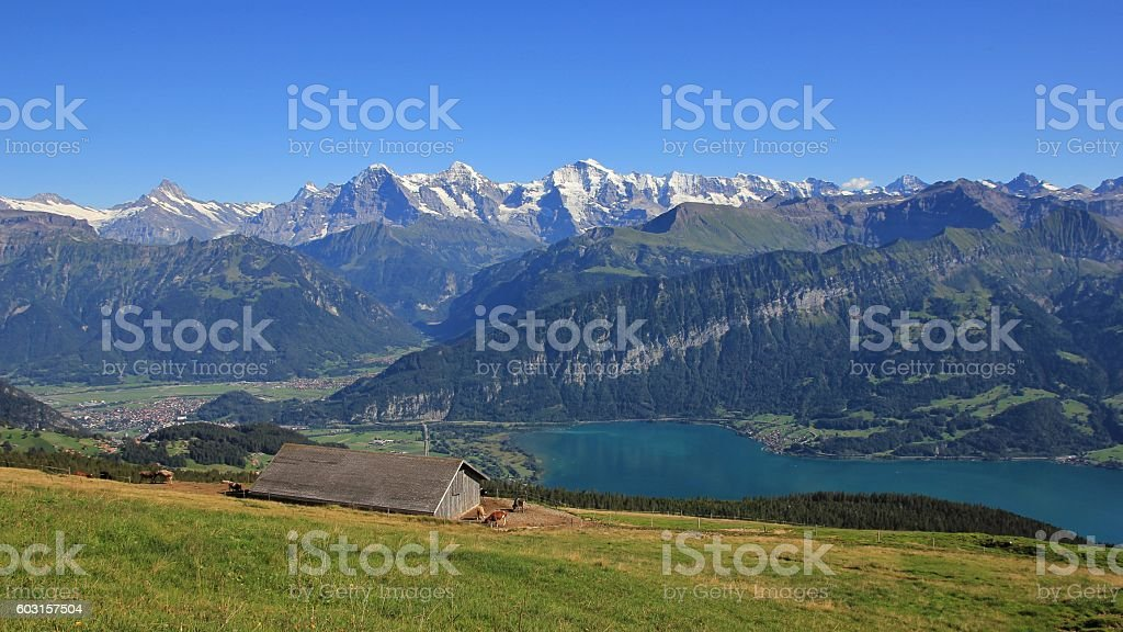 Summer day in the Bernese Oberland stock photo
