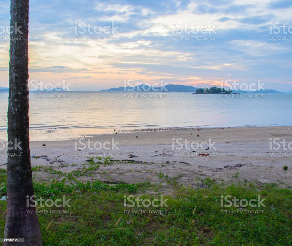 summer day on beach. stock photo