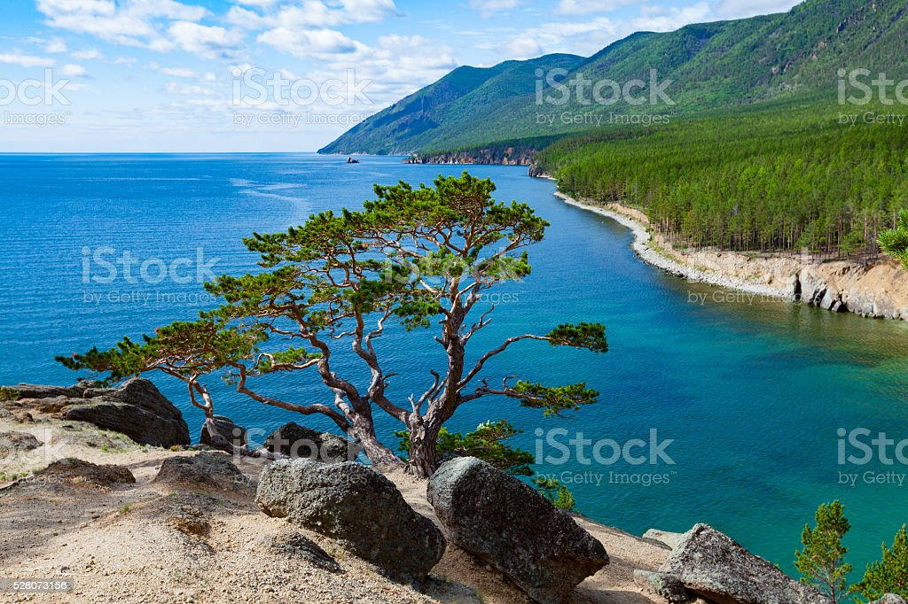 Summer day on Lake Baikal stock photo