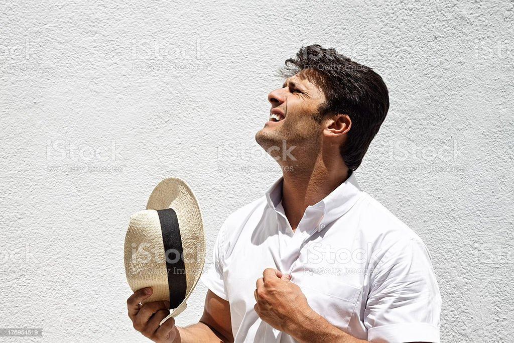 Sommer Tag - Lizenzfrei Ein Mann allein Stock-Foto