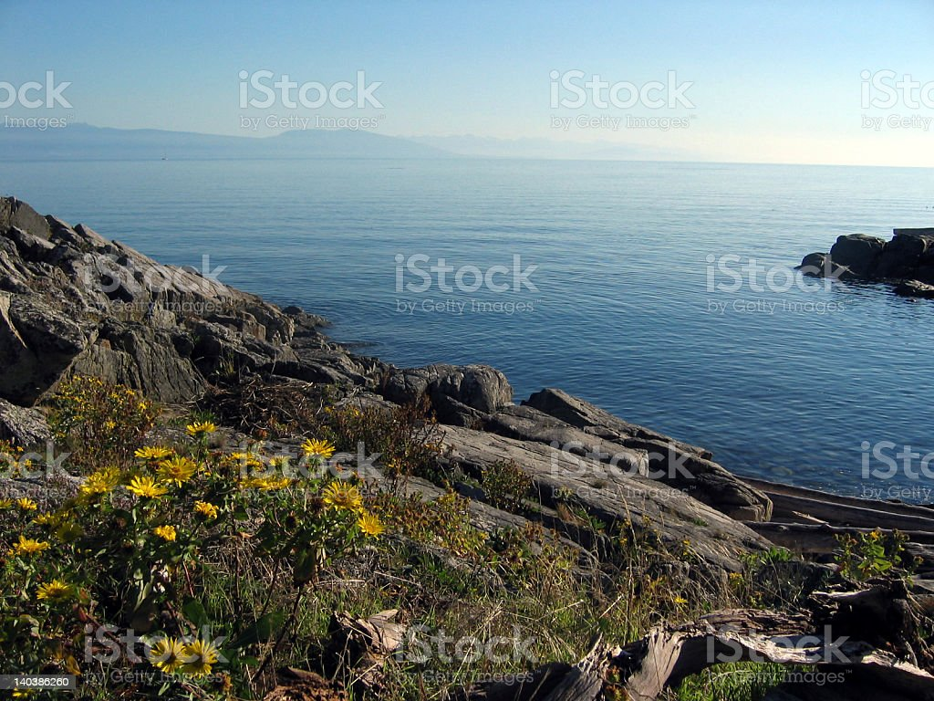 Summer Day View of Georgia Strait stock photo