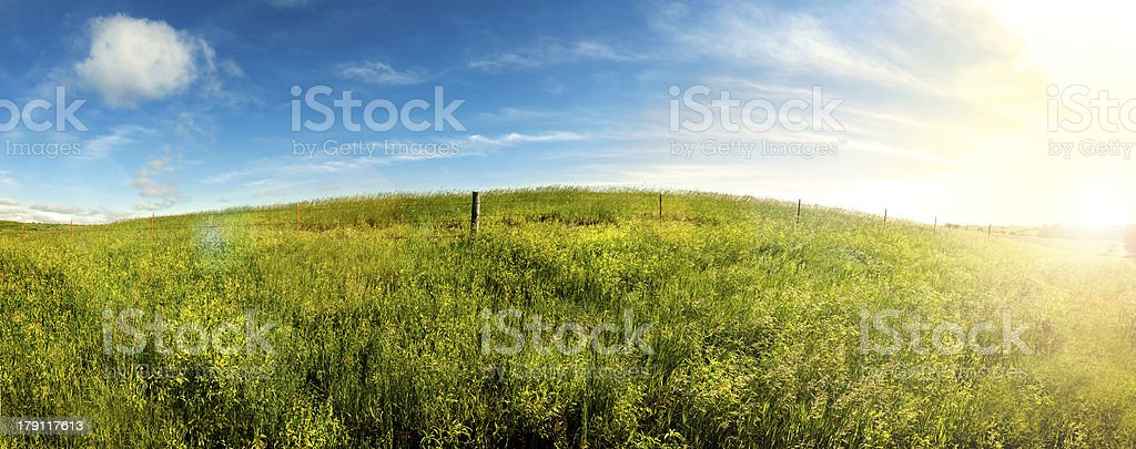 Summer Days, Sunrise on South Dakota grass land. royalty-free stock photo