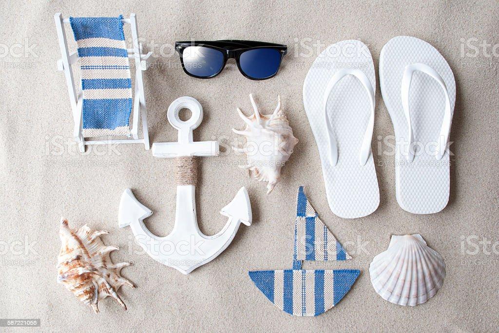 Summer Decoration On Sandy Beach – Foto
