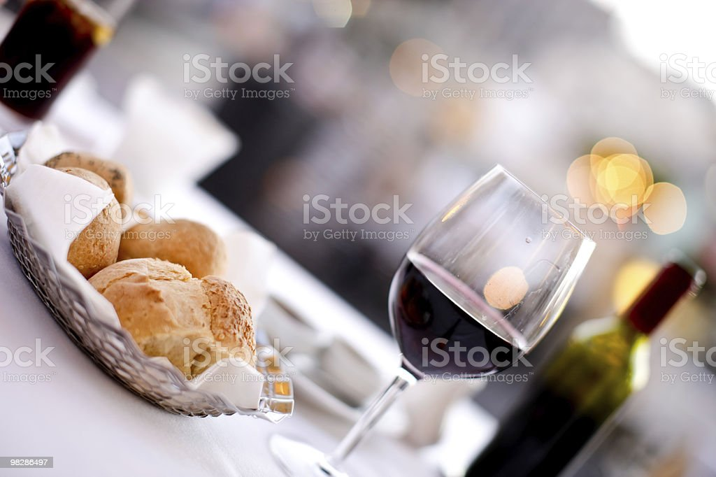 Summer dinner outdoors royalty-free stock photo