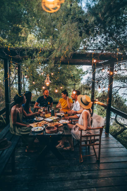 Summer dinner party - foto stock