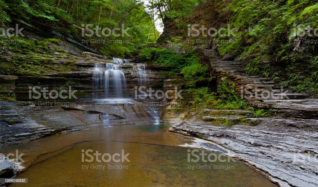 Summer Dream: Buttermilk Falls stock photo