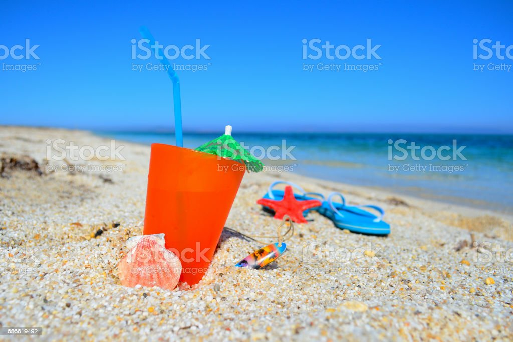 summer drink on the shore royalty-free stock photo