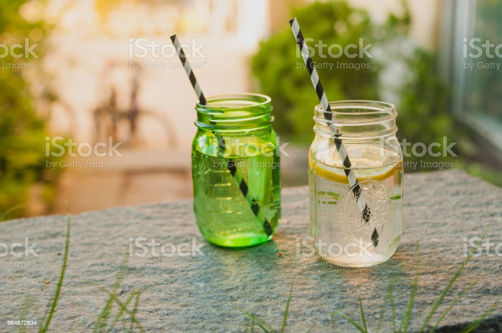 Summer drinks sunshine filled atmospheric shot royalty-free stock photo