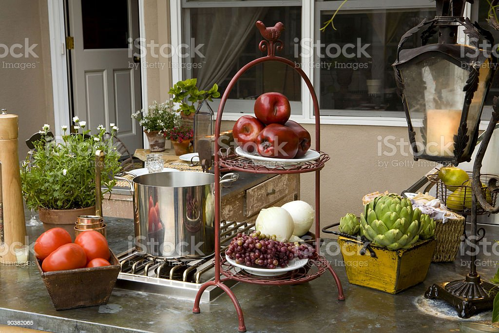 Summer eve Bbq royalty-free stock photo