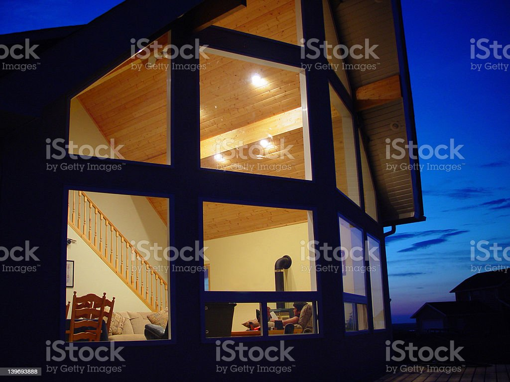 Summer evening at the cottage royalty-free stock photo