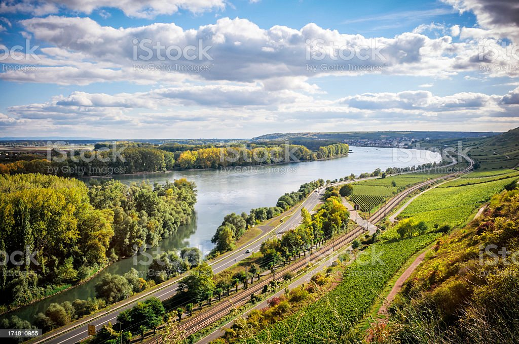 Summer evening at the Rhine royalty-free stock photo