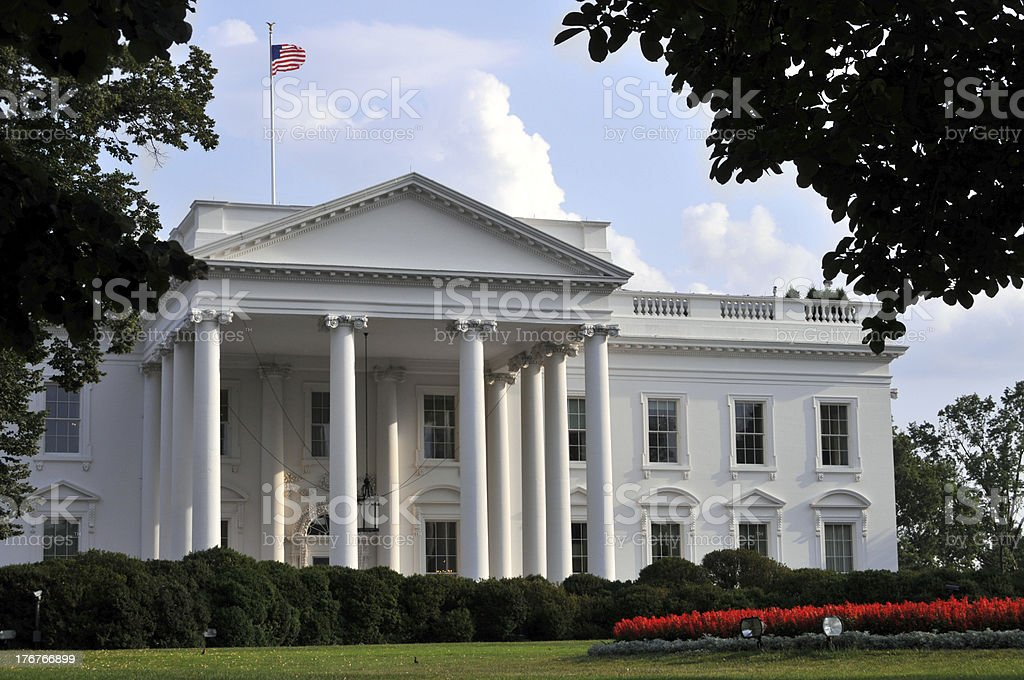 Summer evening at the White House royalty-free stock photo