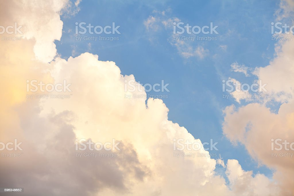 Summer evening clouds royalty-free stock photo