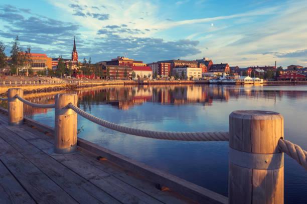 sommarkväll i luleå - norrbotten bildbanksfoton och bilder