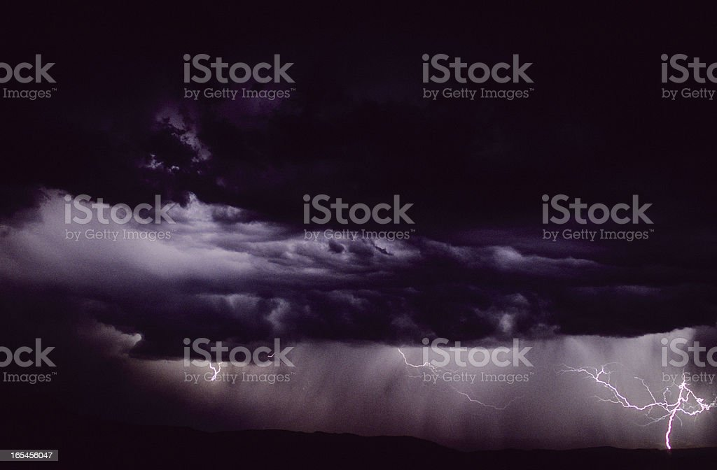 Summer Evening Lightning royalty-free stock photo