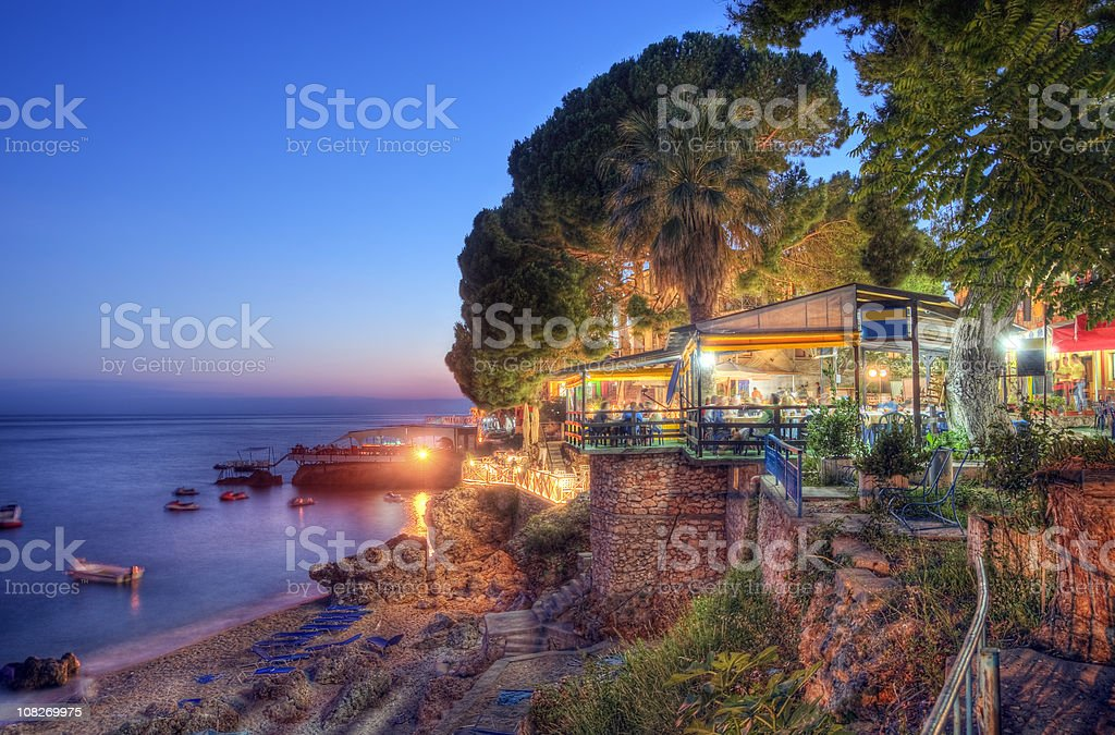 Summer Evening on the Ionian Coast stock photo