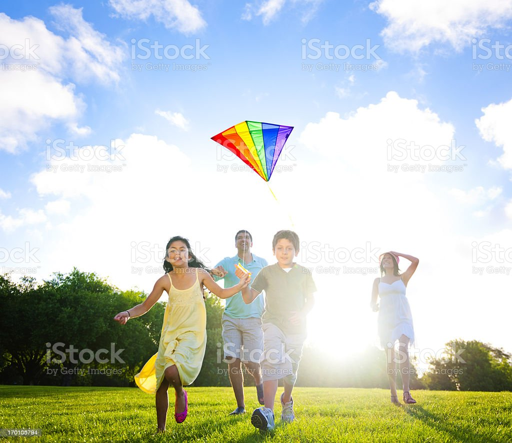 Summer Family fun in the Park royalty-free stock photo