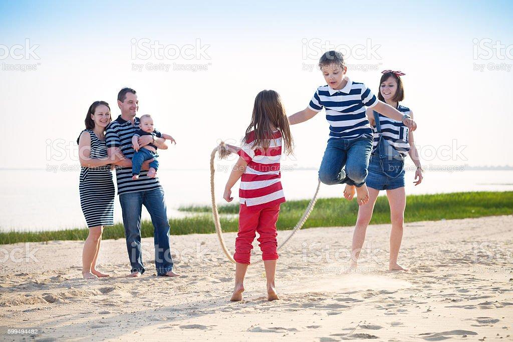 Summer family vacation stock photo