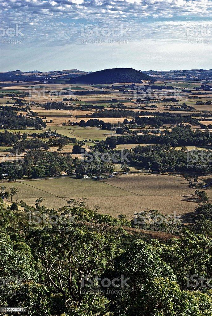 Summer farmland, Australia stock photo