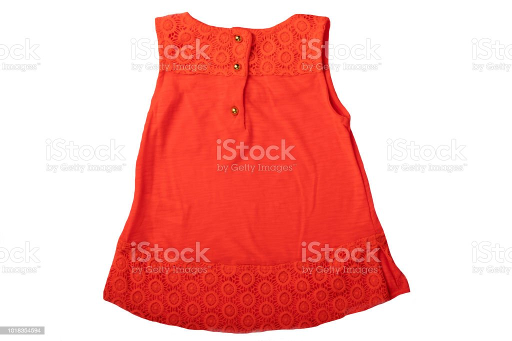 7db62a5d78343 Summer fashion blouse. A red summer blouse for girl isolated on white  background. Kids