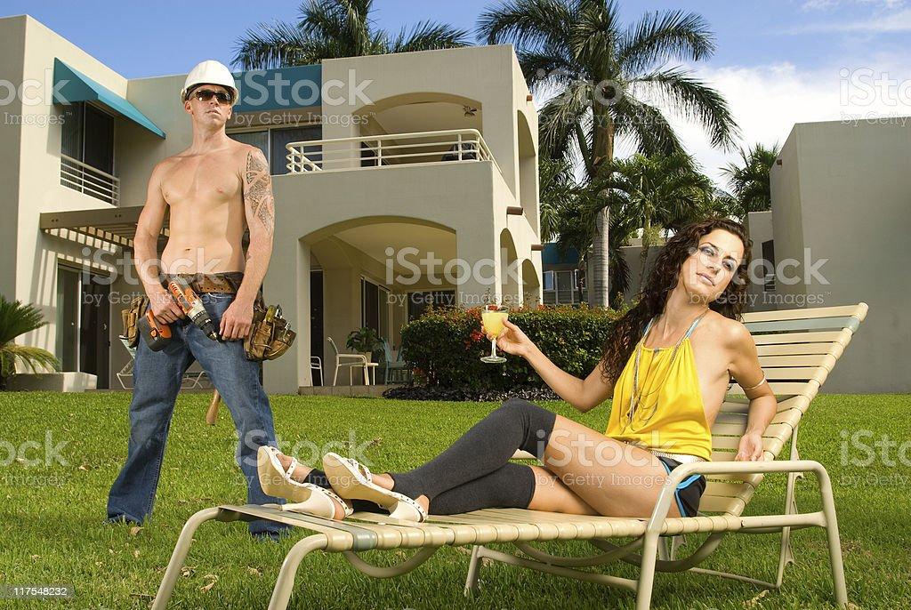 Summer Fashion Couple royalty-free stock photo