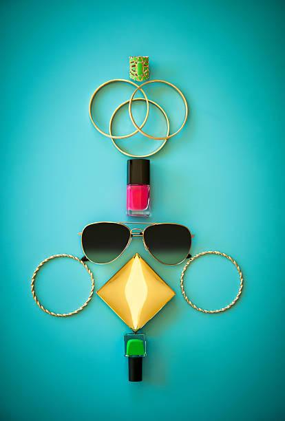 Summer Fashion Flat Lay stock photo