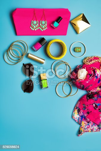 istock Summer Fashion Flat Lay 529058624