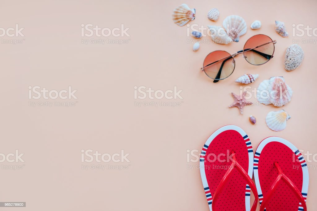Summer fashion flatay royalty-free stock photo
