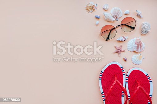 Summer Fashion Flatay Stock Photo & More Pictures of Above