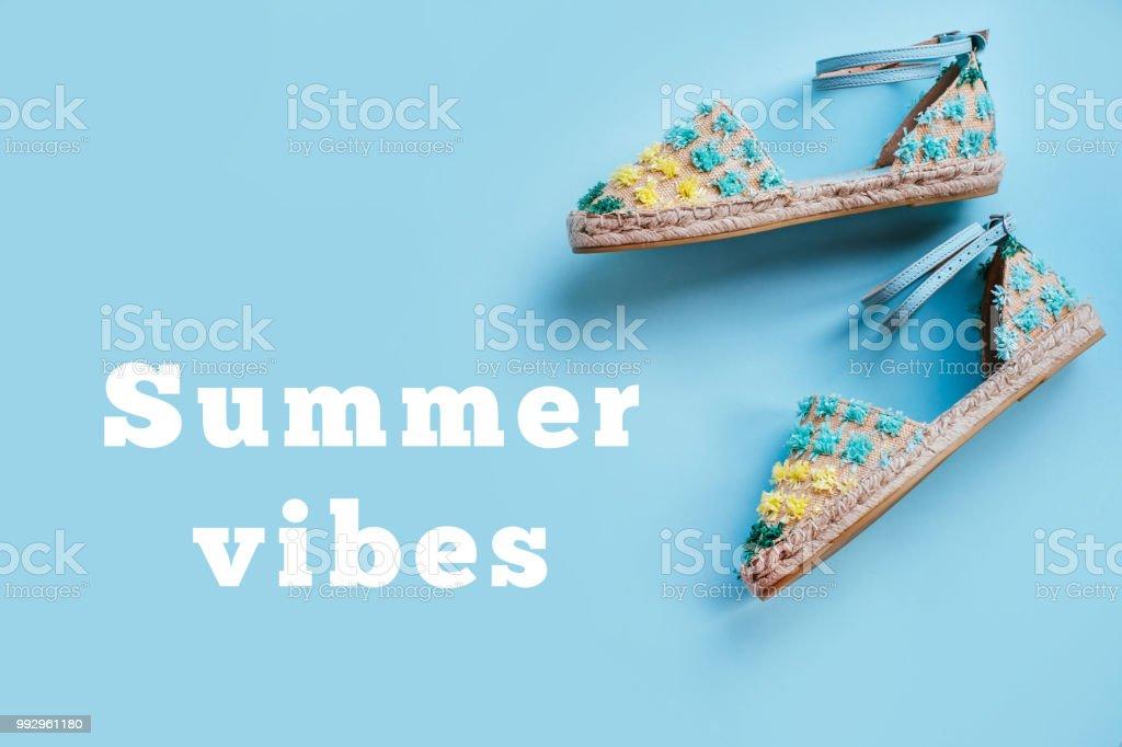 Summer fashion flatay stock photo