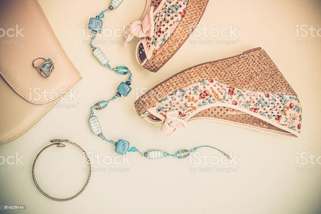 Летняя мода - Стоковые фото Бежевый роялти-фри